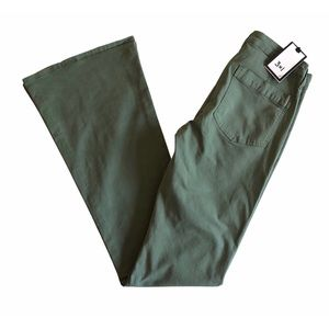 3x1 W2 Green Military Flare Pants Sz 26